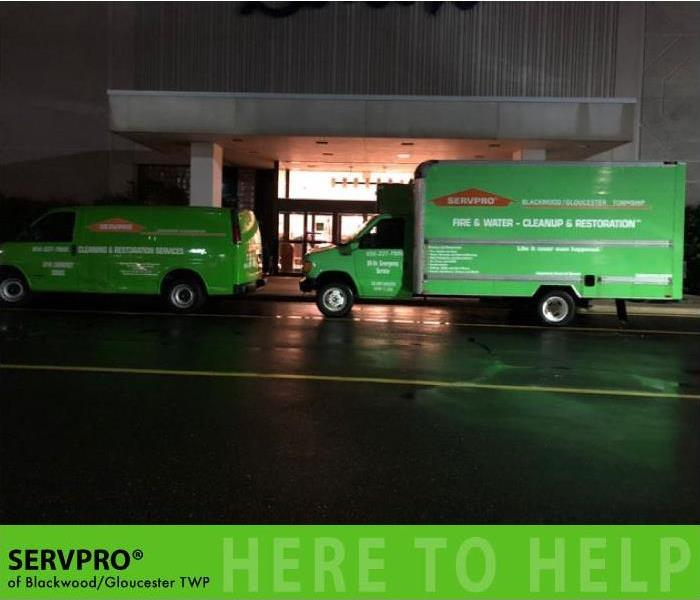 Commercial SERVPRO Quickly Responds to Water Damage in Local Department Store.